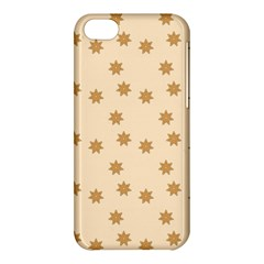 Pattern Gingerbread Star Apple Iphone 5c Hardshell Case by Simbadda