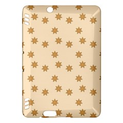 Pattern Gingerbread Star Kindle Fire Hdx Hardshell Case by Simbadda