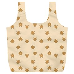 Pattern Gingerbread Star Full Print Recycle Bags (l)  by Simbadda