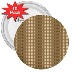 Pattern Background Brown Lines 3  Buttons (10 Pack)  by Simbadda