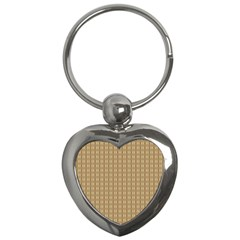 Pattern Background Brown Lines Key Chains (heart)  by Simbadda