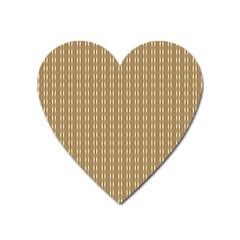 Pattern Background Brown Lines Heart Magnet by Simbadda