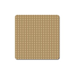 Pattern Background Brown Lines Square Magnet by Simbadda