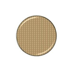 Pattern Background Brown Lines Hat Clip Ball Marker by Simbadda