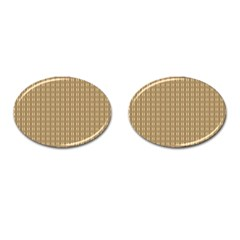Pattern Background Brown Lines Cufflinks (oval) by Simbadda