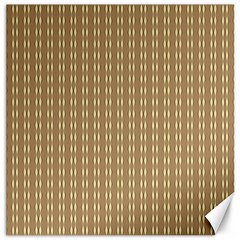 Pattern Background Brown Lines Canvas 12  X 12   by Simbadda