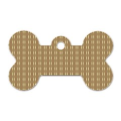 Pattern Background Brown Lines Dog Tag Bone (one Side) by Simbadda