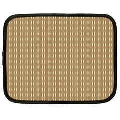 Pattern Background Brown Lines Netbook Case (xxl)  by Simbadda