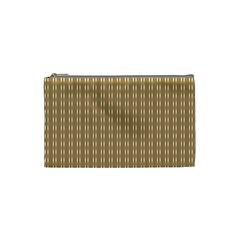Pattern Background Brown Lines Cosmetic Bag (small)  by Simbadda