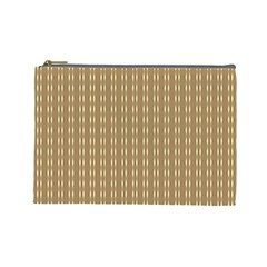 Pattern Background Brown Lines Cosmetic Bag (large)  by Simbadda