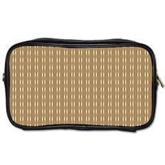 Pattern Background Brown Lines Toiletries Bags by Simbadda