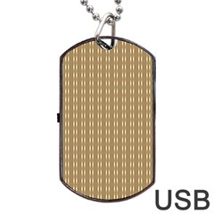 Pattern Background Brown Lines Dog Tag Usb Flash (two Sides) by Simbadda