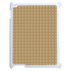 Pattern Background Brown Lines Apple Ipad 2 Case (white) by Simbadda