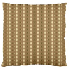 Pattern Background Brown Lines Large Cushion Case (one Side) by Simbadda