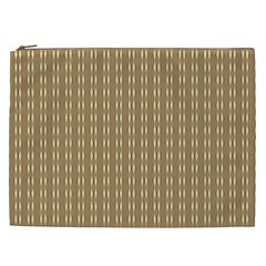 Pattern Background Brown Lines Cosmetic Bag (xxl)  by Simbadda
