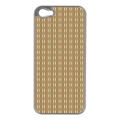 Pattern Background Brown Lines Apple Iphone 5 Case (silver) by Simbadda