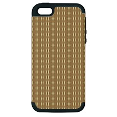Pattern Background Brown Lines Apple Iphone 5 Hardshell Case (pc+silicone) by Simbadda