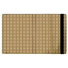 Pattern Background Brown Lines Apple Ipad 3/4 Flip Case by Simbadda