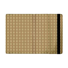 Pattern Background Brown Lines Apple Ipad Mini Flip Case by Simbadda