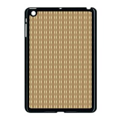 Pattern Background Brown Lines Apple Ipad Mini Case (black) by Simbadda