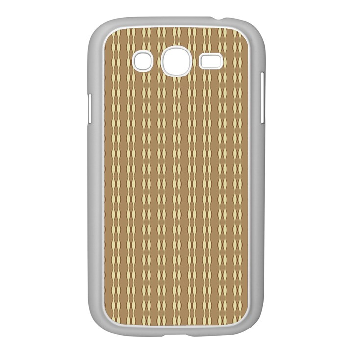 Pattern Background Brown Lines Samsung Galaxy Grand DUOS I9082 Case (White)