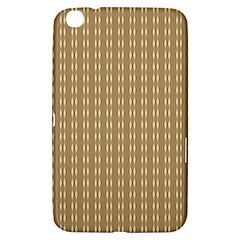 Pattern Background Brown Lines Samsung Galaxy Tab 3 (8 ) T3100 Hardshell Case  by Simbadda