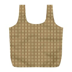Pattern Background Brown Lines Full Print Recycle Bags (l)  by Simbadda