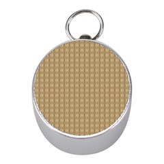 Pattern Background Brown Lines Mini Silver Compasses by Simbadda