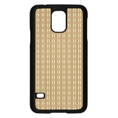Pattern Background Brown Lines Samsung Galaxy S5 Case (black) by Simbadda