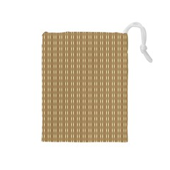 Pattern Background Brown Lines Drawstring Pouches (medium)  by Simbadda