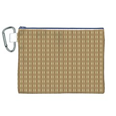 Pattern Background Brown Lines Canvas Cosmetic Bag (xl) by Simbadda