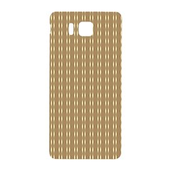 Pattern Background Brown Lines Samsung Galaxy Alpha Hardshell Back Case by Simbadda