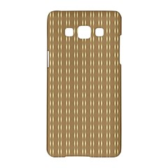 Pattern Background Brown Lines Samsung Galaxy A5 Hardshell Case  by Simbadda