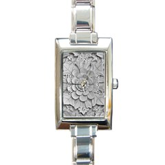 Pattern Motif Decor Rectangle Italian Charm Watch by Simbadda