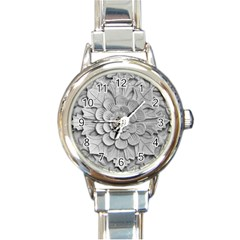 Pattern Motif Decor Round Italian Charm Watch by Simbadda