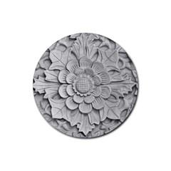 Pattern Motif Decor Rubber Round Coaster (4 Pack)  by Simbadda