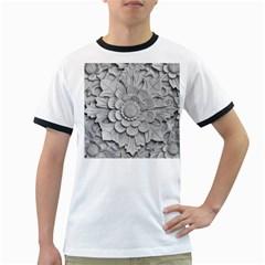 Pattern Motif Decor Ringer T Shirts by Simbadda