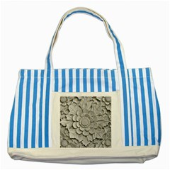 Pattern Motif Decor Striped Blue Tote Bag by Simbadda