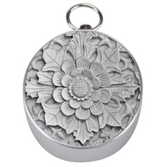 Pattern Motif Decor Silver Compasses by Simbadda