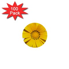 Transparent Flower Summer Yellow 1  Mini Buttons (100 Pack)  by Simbadda