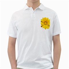 Transparent Flower Summer Yellow Golf Shirts by Simbadda