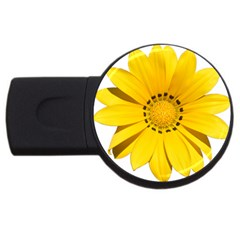 Transparent Flower Summer Yellow Usb Flash Drive Round (2 Gb) by Simbadda