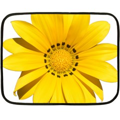 Transparent Flower Summer Yellow Double Sided Fleece Blanket (mini)  by Simbadda