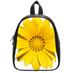 Transparent Flower Summer Yellow School Bags (small)  by Simbadda
