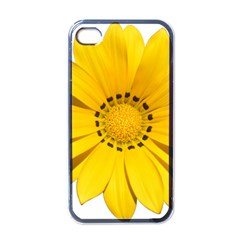 Transparent Flower Summer Yellow Apple Iphone 4 Case (black) by Simbadda
