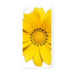Transparent Flower Summer Yellow Apple Iphone 4 Case (white) by Simbadda