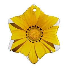 Transparent Flower Summer Yellow Snowflake Ornament (two Sides) by Simbadda
