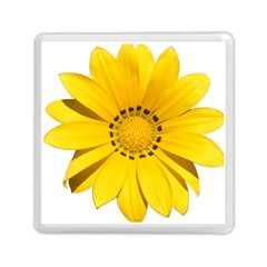 Transparent Flower Summer Yellow Memory Card Reader (square)  by Simbadda