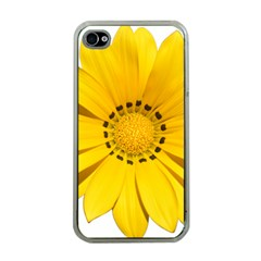 Transparent Flower Summer Yellow Apple Iphone 4 Case (clear) by Simbadda