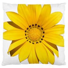 Transparent Flower Summer Yellow Large Cushion Case (two Sides) by Simbadda
